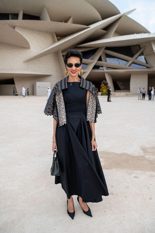 Farida Khelfaà l'inauguration du musée national du Qatar à Doha le 27 mars 2019