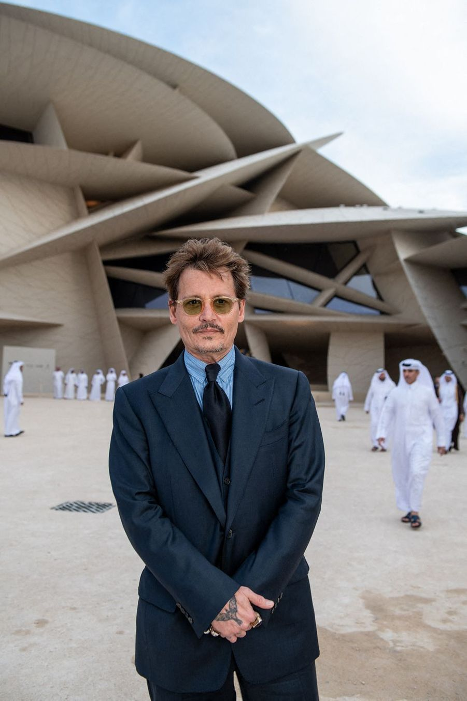 Johnny Depp à l'inauguration du musée national du Qatar à Doha le 27 mars 2019