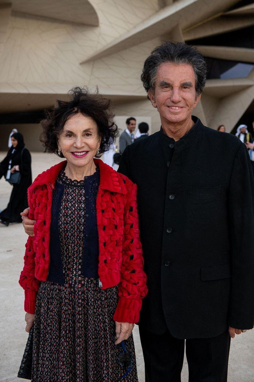 Monique et Jack Langà l'inauguration du musée national du Qatar à Doha le 27 mars 2019