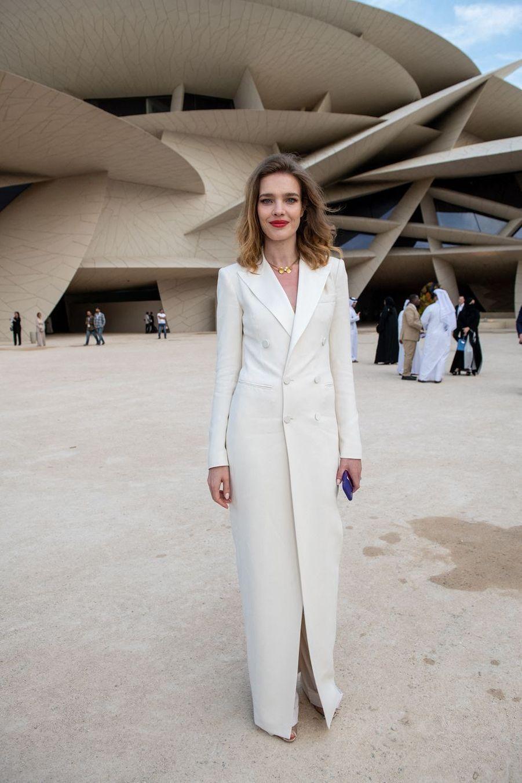 Natalia Vodianovaà l'inauguration du musée national du Qatar à Doha le 27 mars 2019