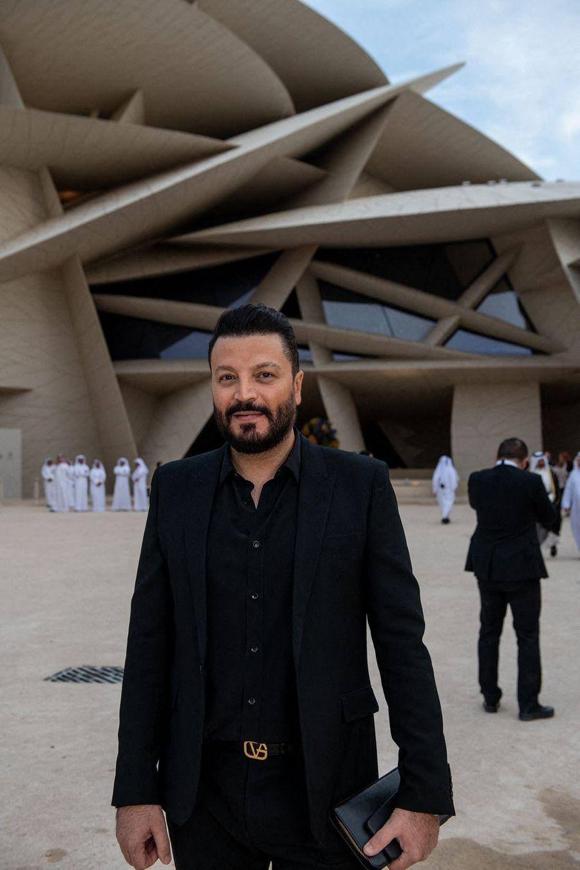 Zuhair Muradà l'inauguration du musée national du Qatar à Doha le 27 mars 2019
