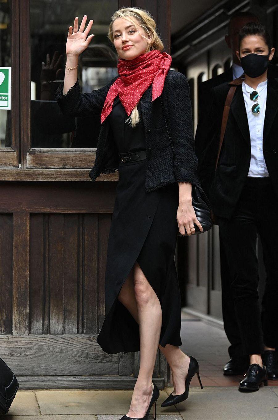 Amber Heardà Londres le 13 juillet 2020