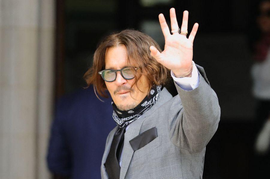 Johnny Deppà Londres le 13 juillet 2020