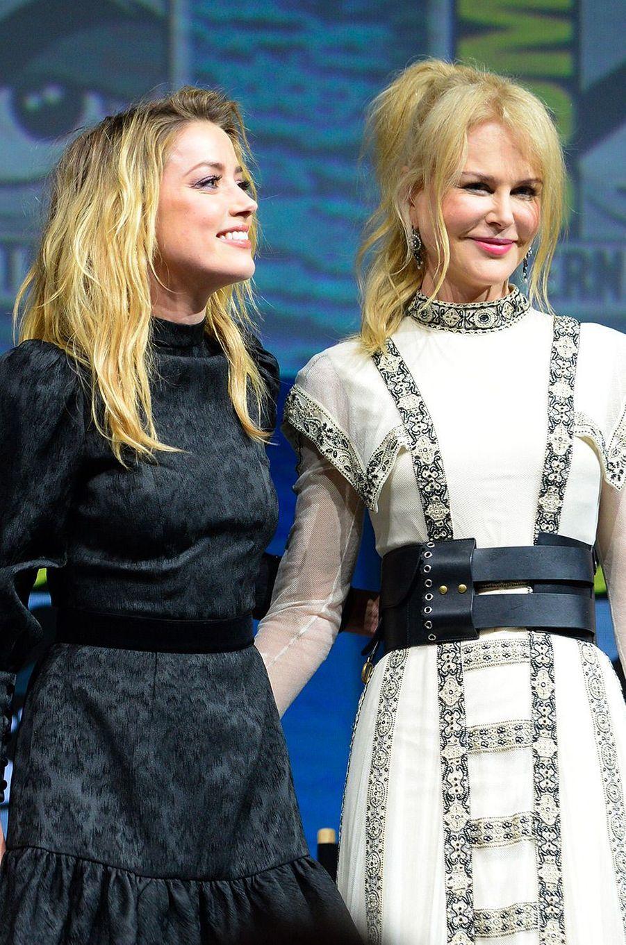 Amber Heard au Comic-Con de San Diego avec Nicole Kidman