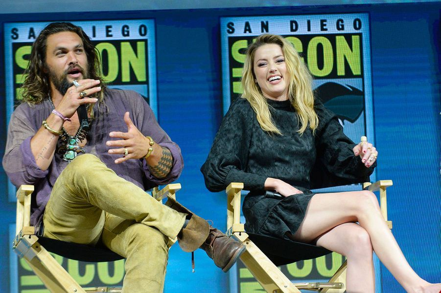 Amber Heard au Comic-Con de San Diego avec Jason Momoa