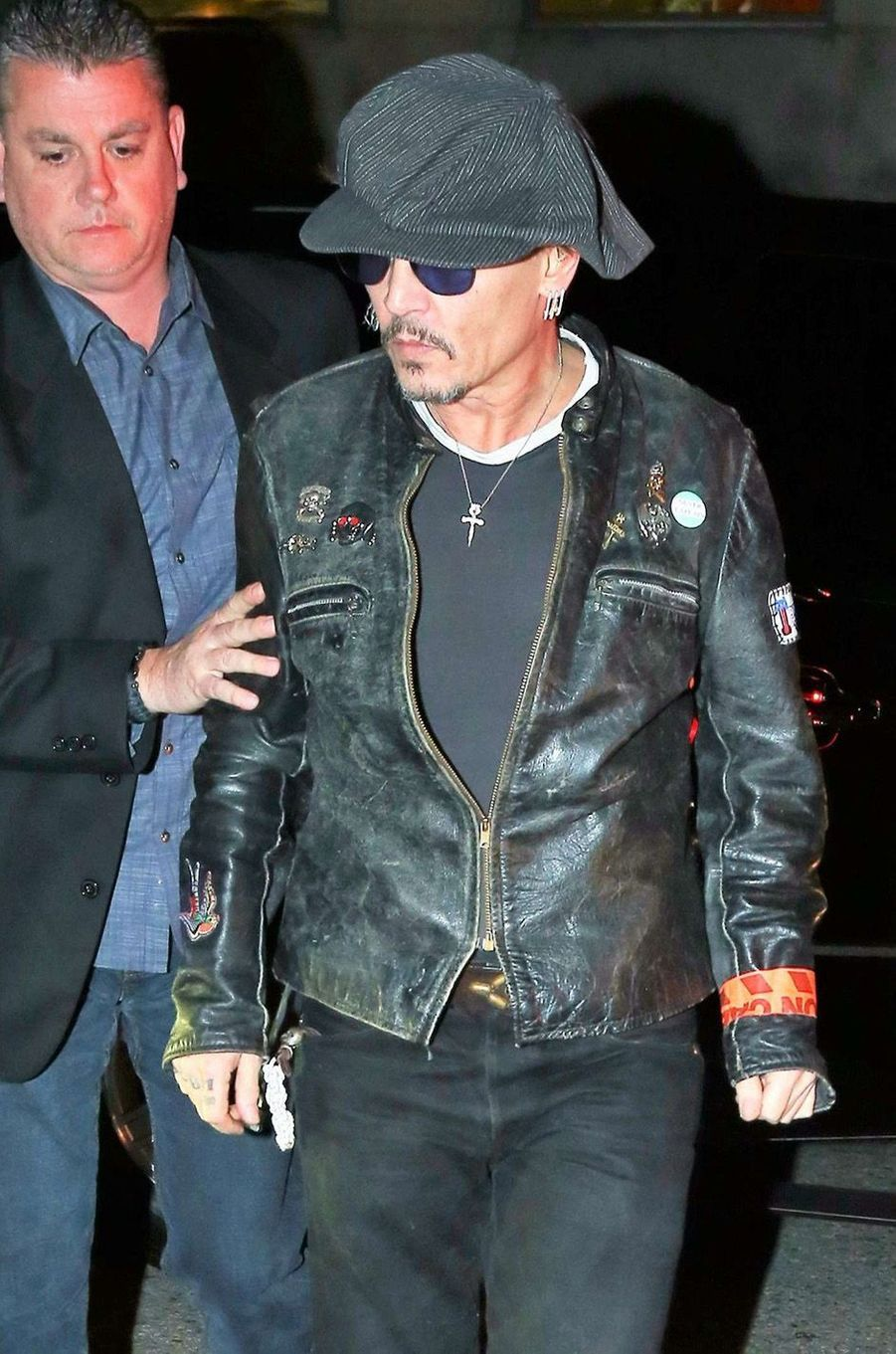 Johnny Depp très amaigri à Los Angeles, le 28 mars 2017.