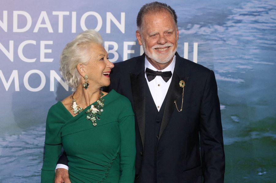Helen Mirren et son mari Taylor HackfordauMonte-Carlo Gala for Planetary Health organisé par la Fondation Prince Albert II de Monaco le 24 septembre 2020