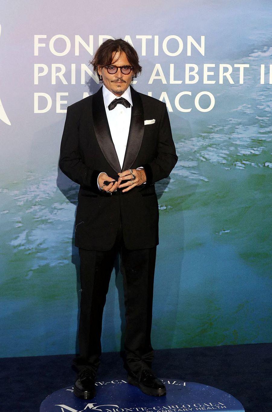 Johnny DeppauMonte-Carlo Gala for Planetary Health organisé par la Fondation Prince Albert II de Monaco le 24 septembre 2020