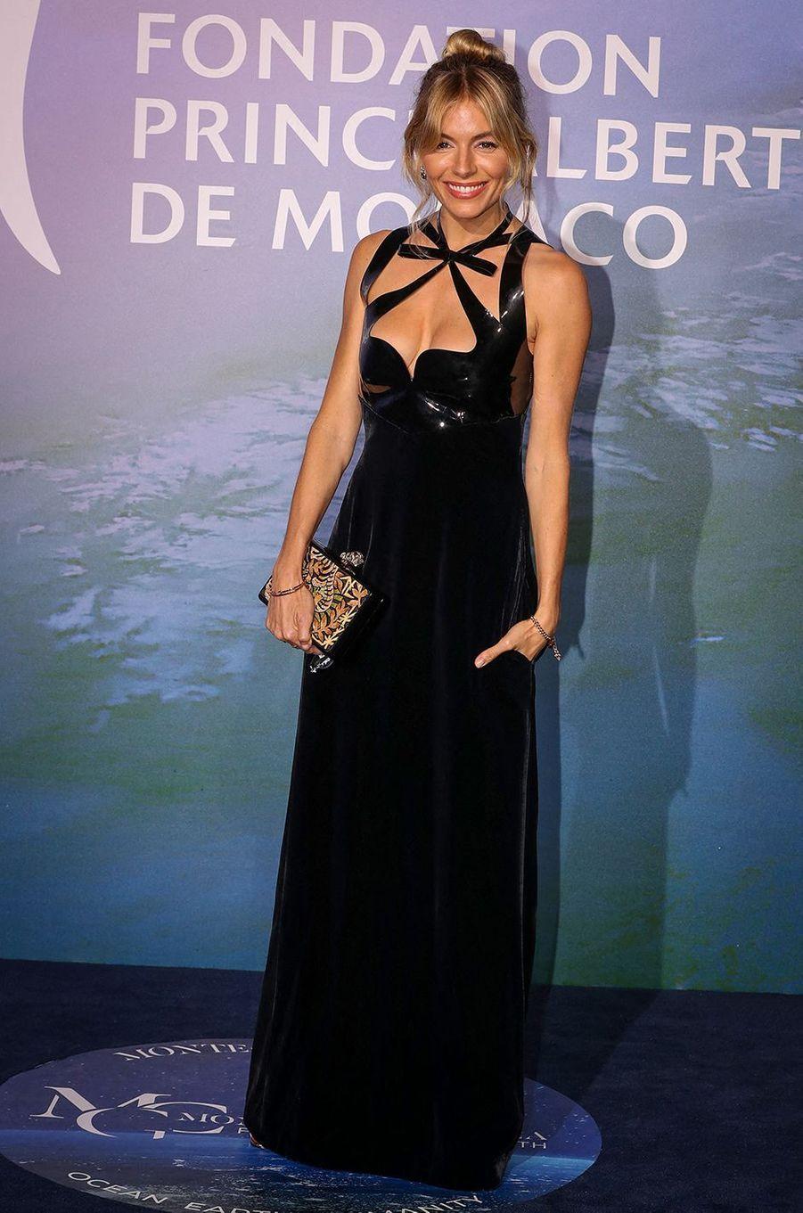 Sienna MillerauMonte-Carlo Gala for Planetary Health organisé par la Fondation Prince Albert II de Monaco le 24 septembre 2020