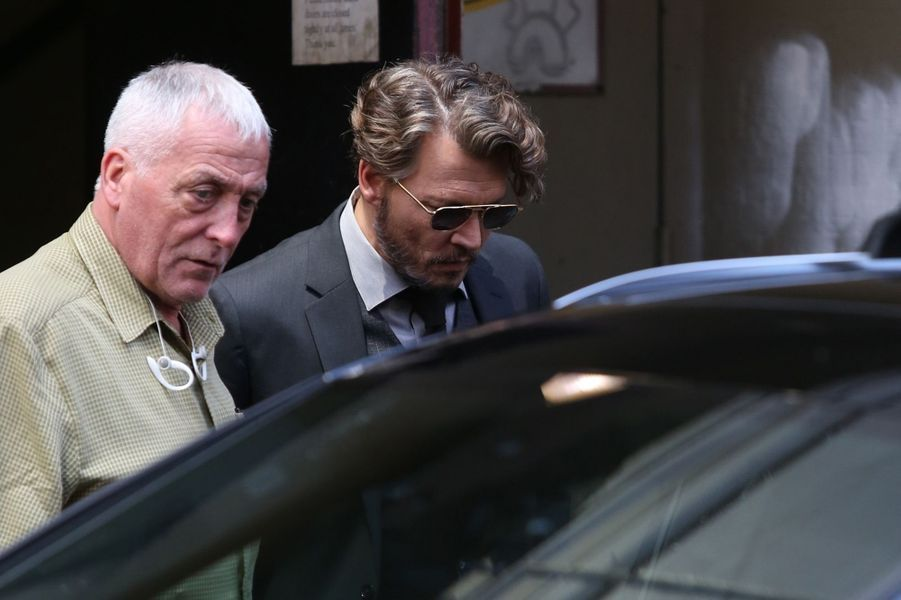 Johnny Depp sur le tournage de son nouveau film à Vancouver, le 26 juillet 2017.
