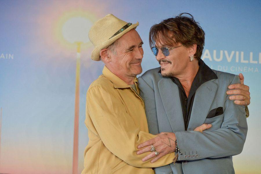 Johnny Depp et Mark Rylance au Festival de Deauville