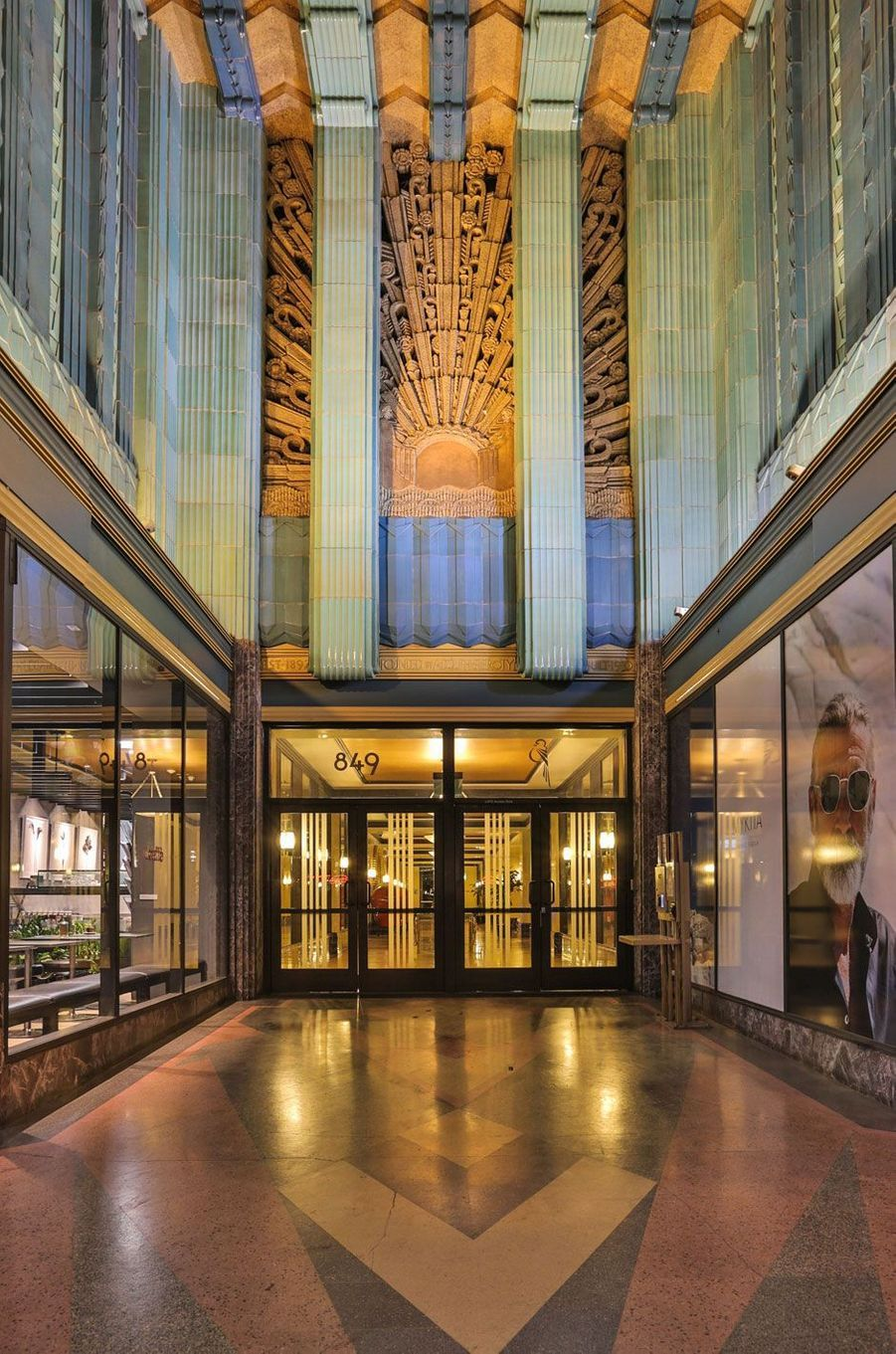 Le hall de l'immeuble Eastern Columbia Building