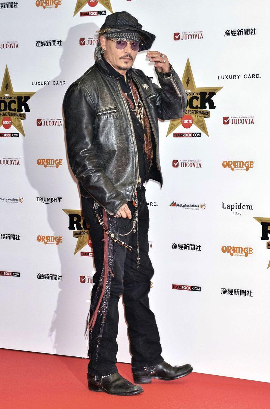 "Johnny Depp aux ""Classic Rock Awards"""