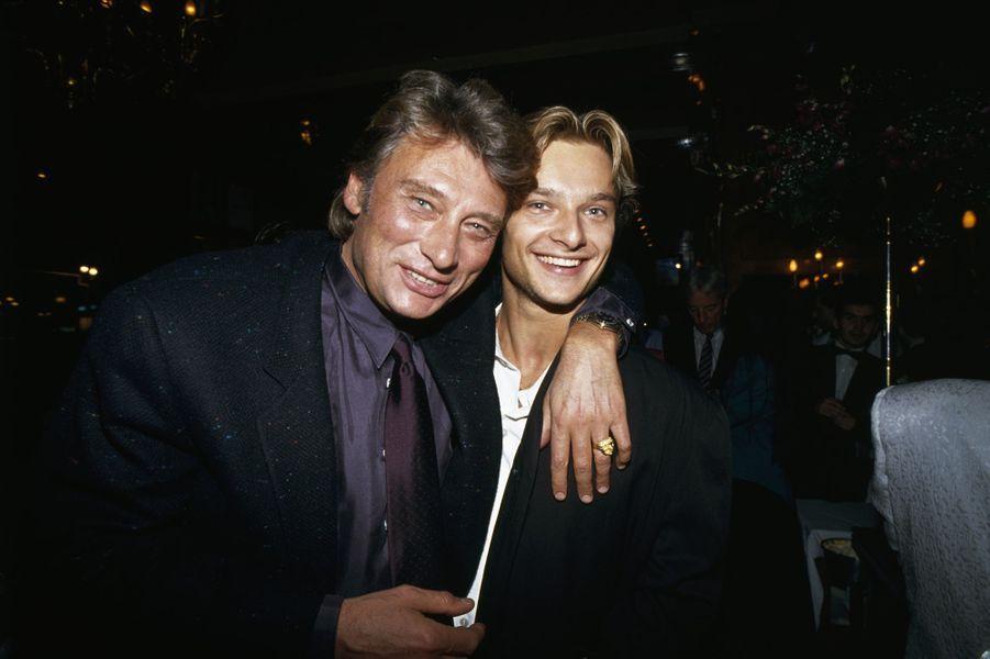 Johnny Hallyday et David, l'amour père/fils.