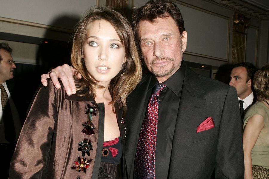 Johnny Hallyday et Laura Smet réunis à New York, 2005.