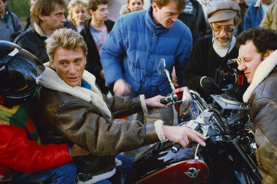 Johnny Hallyday, en 1989.