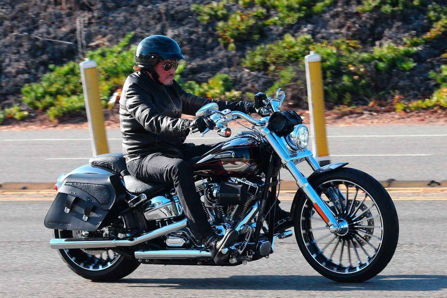 Johnny Hallyday à Malibu, le 28 septembre 2014.