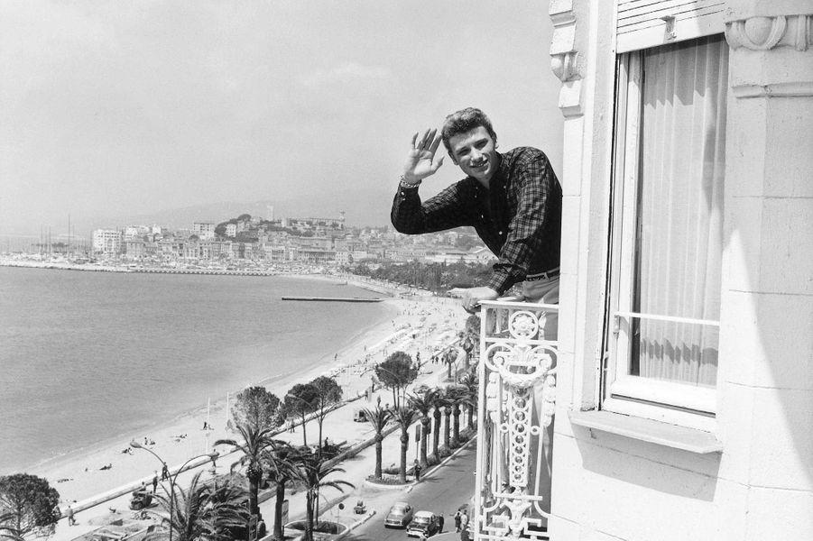 Johnny Hallyday à Cannes en 1962.