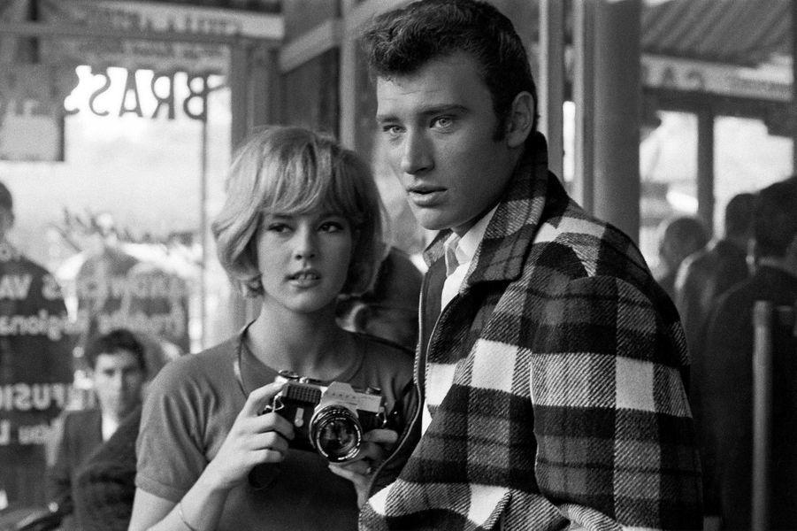 Johnny Hallyday et Sylvie Vartan en 1963.