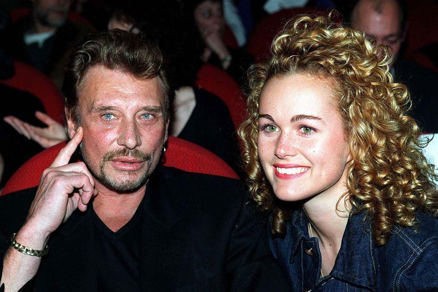 Johnny Hallyday et Laeticia en 1998.