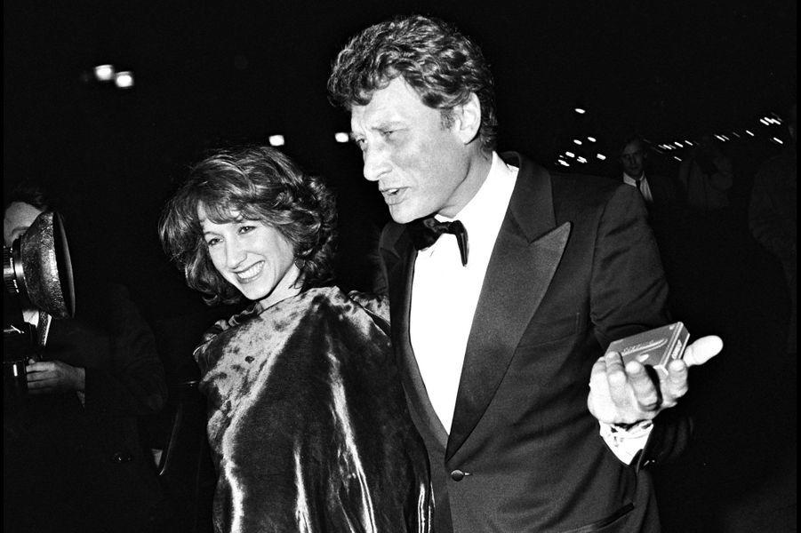 Johnny Hallyday et Nathalie Baye en 1983.