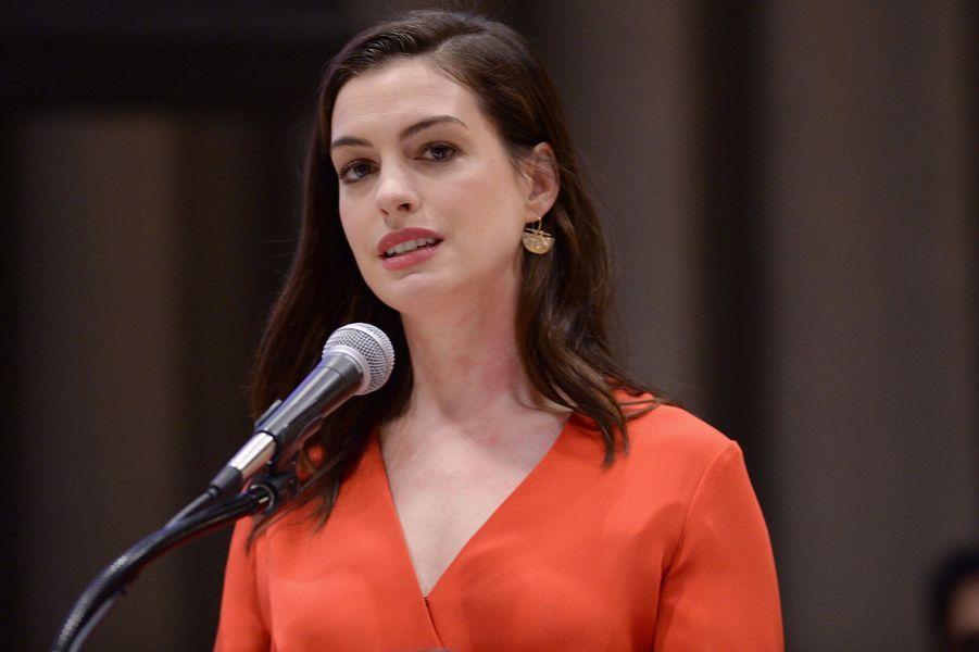 Anna Hathaway, ambassadrice de Bonne Volonté pour l'Onu.