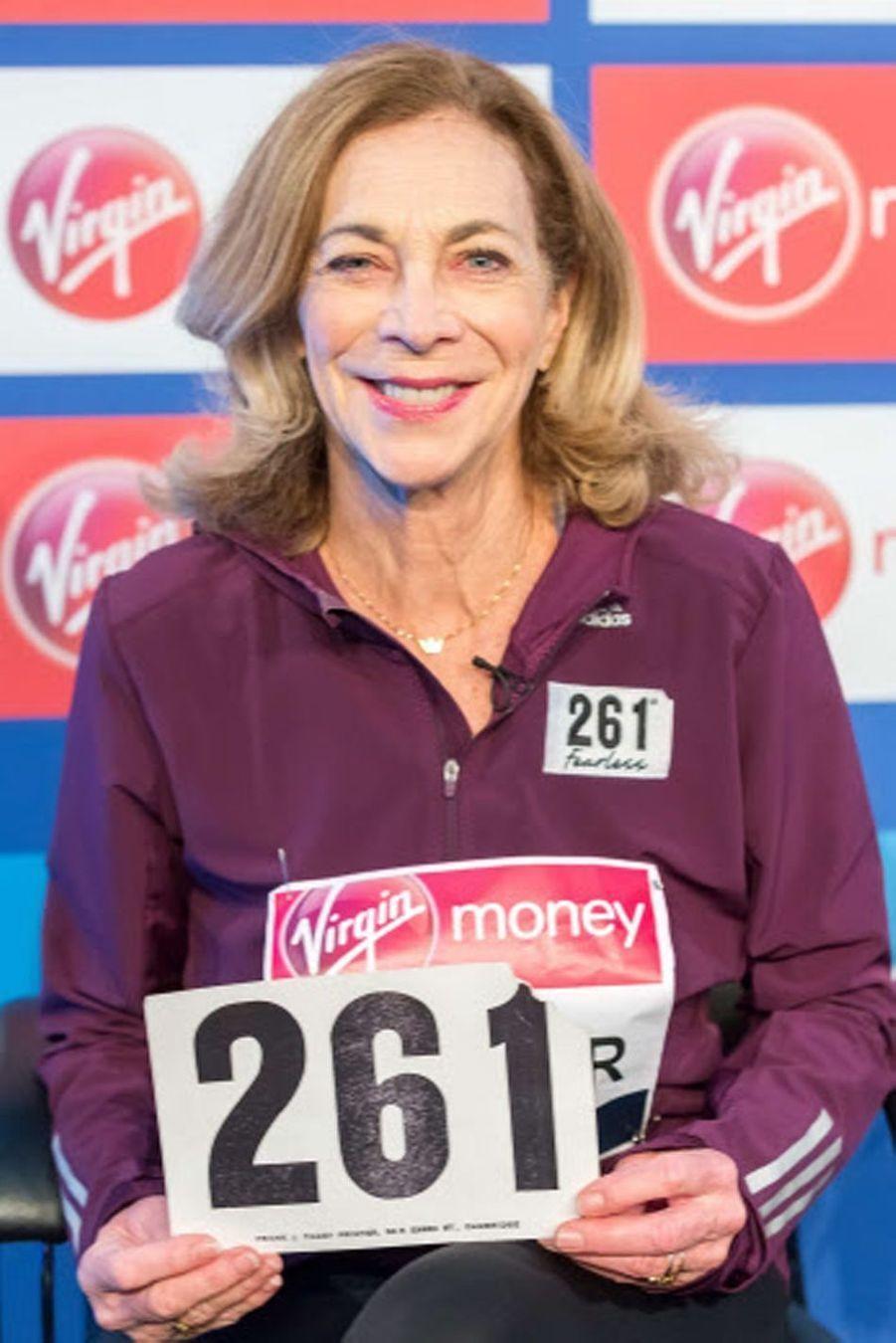 Kathrine Switzer (72 ans), médiatisée pour avoir été la première femme à courir le marathon de Boston, est à l'origine de la reconnaissance des femmes dans le milieu de la course.