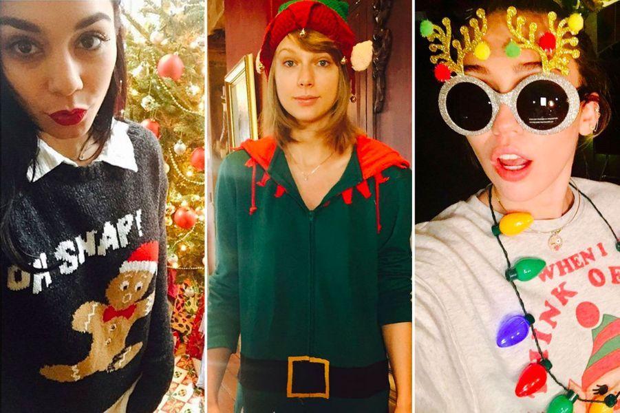 Journée mondiale du pull de Noël : les meilleurs (et les pires) looks des stars