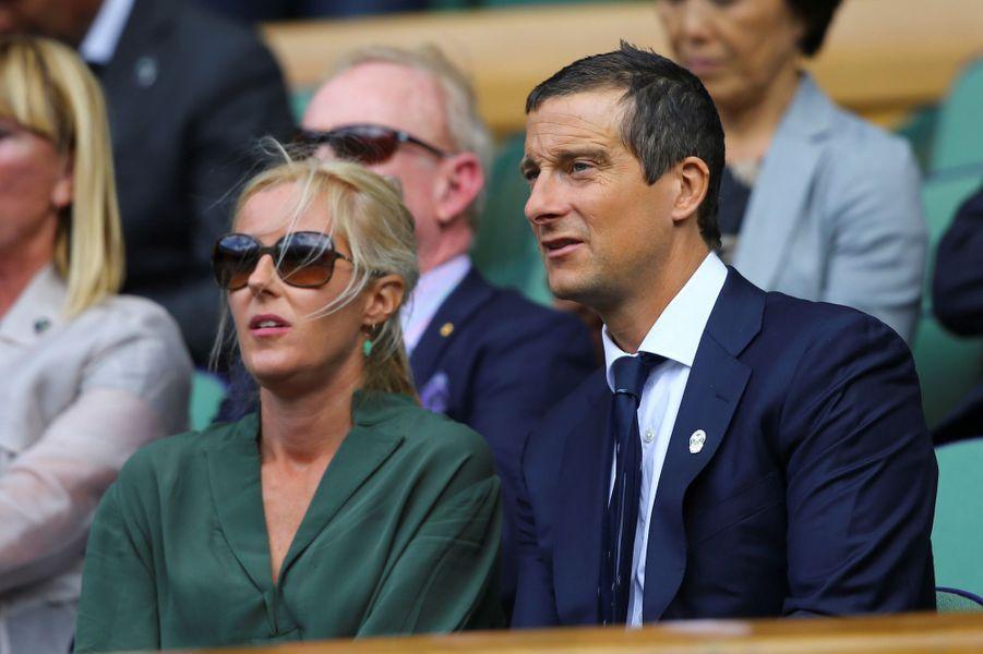 Shara et Bear Grylls à Wimbledon.