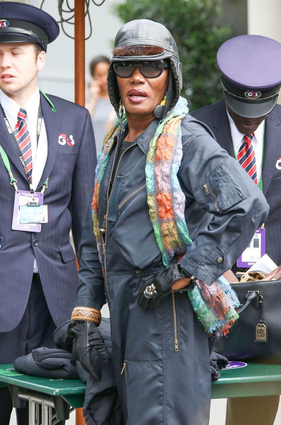 Grace Jones à Wimbledon.