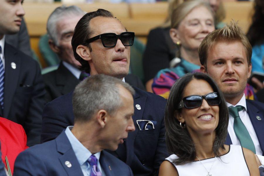Jude Law à Wimbledon.