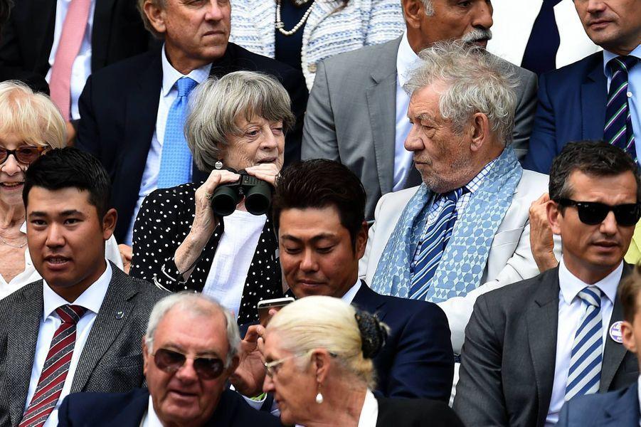 Maggy Smith et Ian McKellen à Wimbledon.