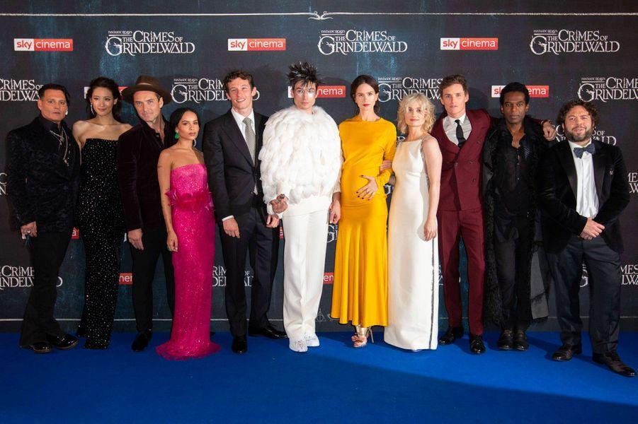 L'équipe du film «Les Animaux Fantastiques: les crimes de Grindewald»