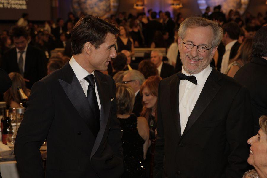 Tom Cruise et Steven Spielberg en 2009.