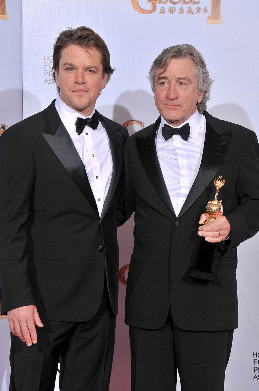 Matt Damon et Robert de Niro en 2011.