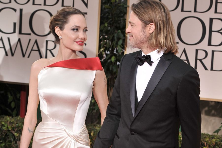 Angelina Jolie et Brad Pitt en 2012.