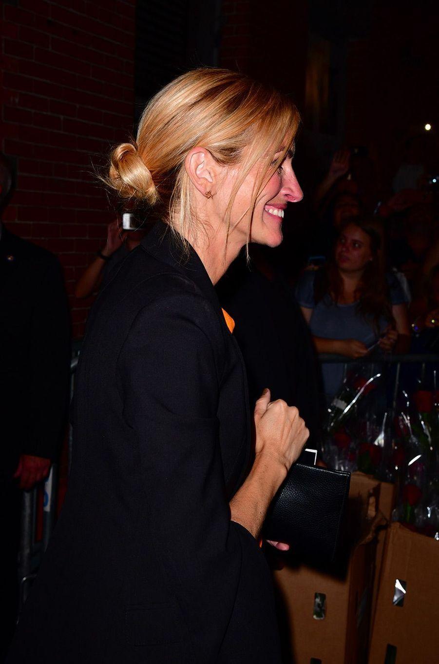 "Julia Roberts à Broadway pour assister au musical ""Pretty Woman"", jeudi 2 août 2018"