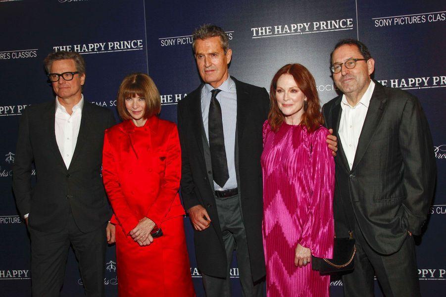 Colin Firth, Anna Wintour, Rupert Everett, Julianne Moore et Michael Barker