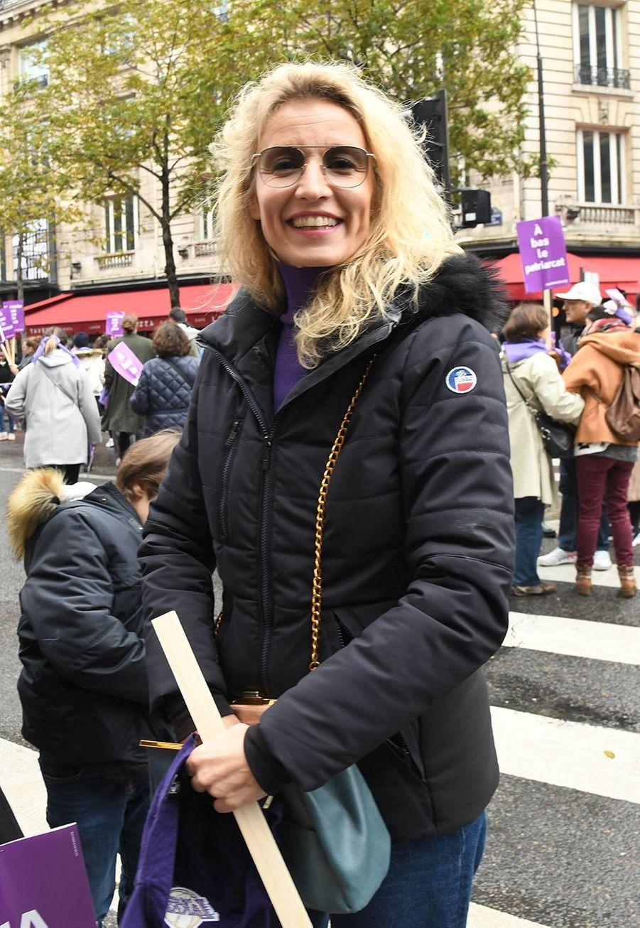 Alexandra Lamylors de la marche contre les violences sexistes et sexuelles organisée par le collectifNousToutes à Paris le 23 Novembre 2019.