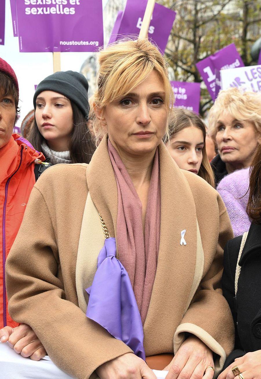 Julie Gayetlors de la marche contre les violences sexistes et sexuelles organisée par le collectifNousToutes à Paris le 23 Novembre 2019.