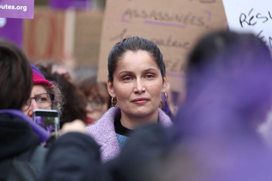 Laetitia Castalors de la marche contre les violences sexistes et sexuelles organisée par le collectifNousToutes à Paris le 23 Novembre 2019.