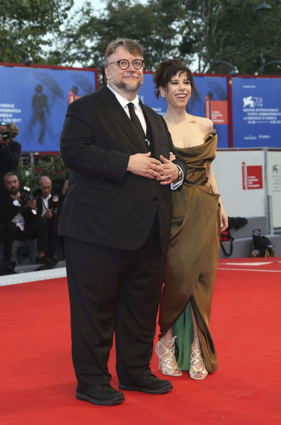 Guillermo del Toro et Sally Hawkinsà la Mostra de Venise, le 31 août 2017.
