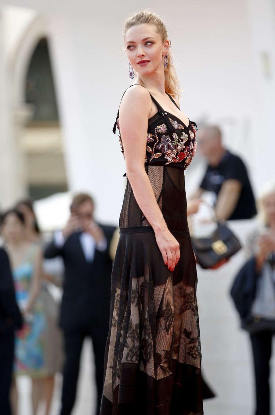 Amanda Seyfried à la Mostra de Venise, le 31 août 2017.