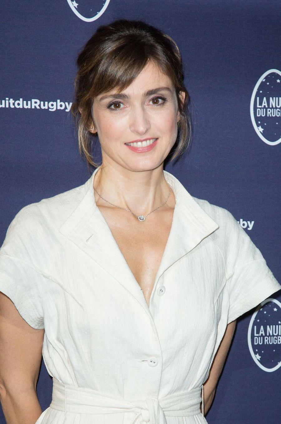 Julie Gayetàla 14ème nuit du rugby, le 18 septembre 2017 à l'Olympia.