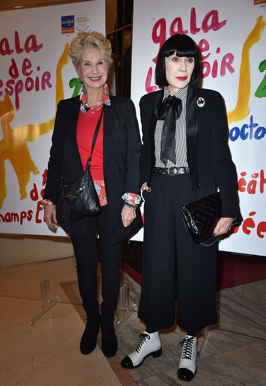 Danièle Gilbert et Chantal Thomassau Gala de l'Espoir de la Ligue contre le cancer au Théâtre des Champs-Elysées à Paris le 22 octobre 2019