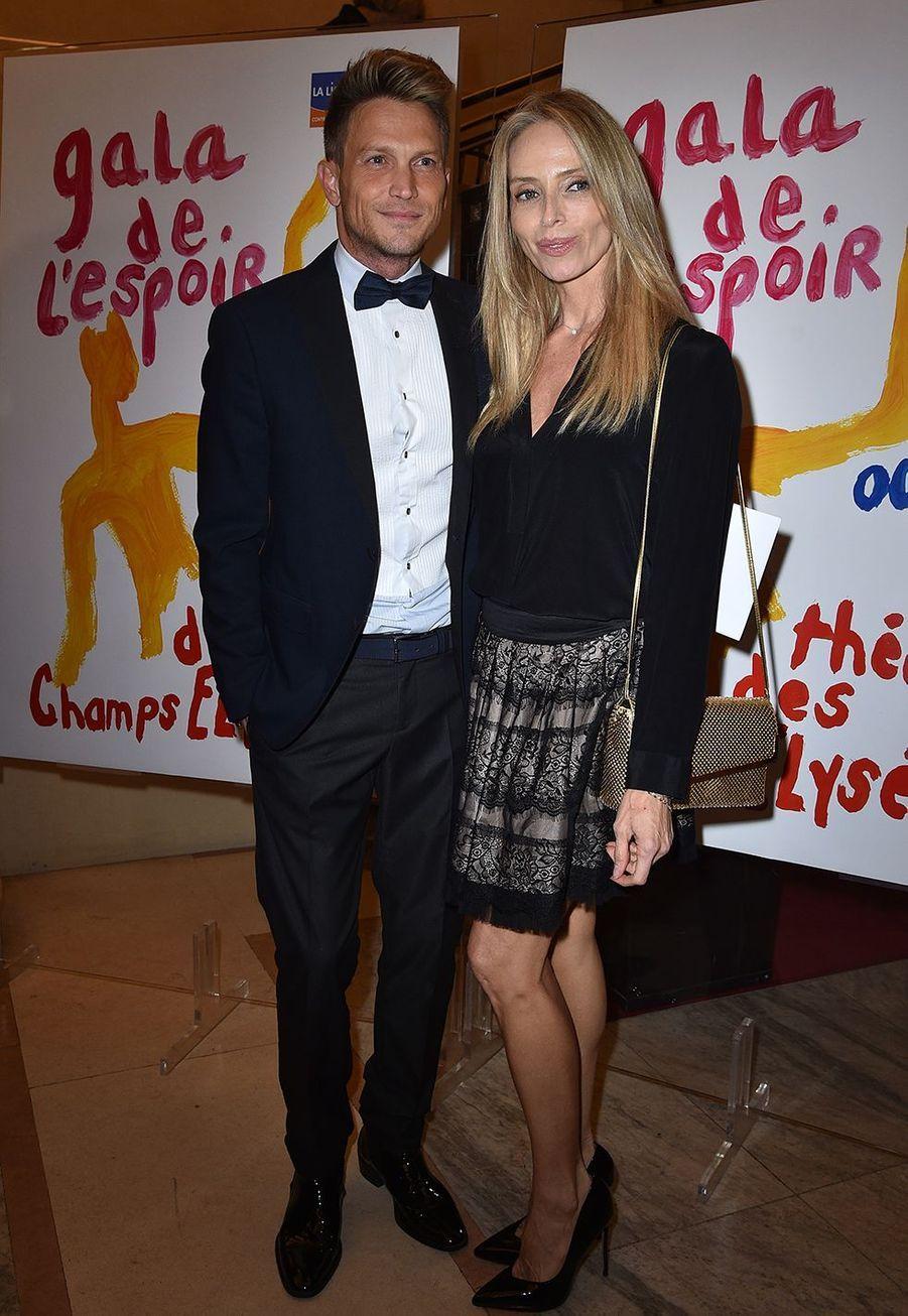 Pierre Barbe et Tonya Kinzingerau Gala de l'Espoir de la Ligue contre le cancer au Théâtre des Champs-Elysées à Paris le 22 octobre 2019