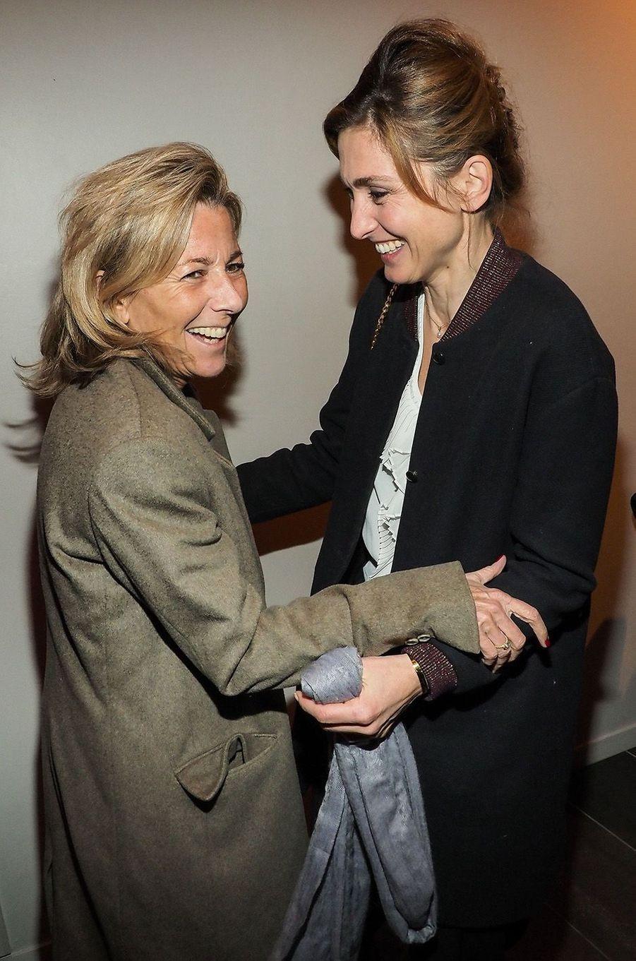 Julie Gayet et Claire Chazal au MK2 Bibliothèque, à Paris, le 26 janvier 2018.