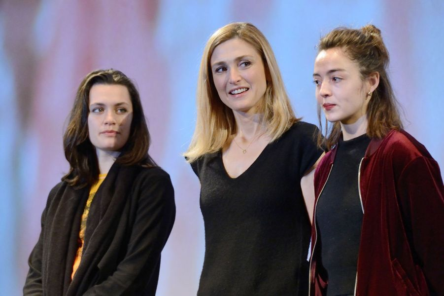 """Ella Rumpf, Julie Gayet et et Garance Marillier, au Fantastic'Art de Gérardmer pour """"Grave""""."""