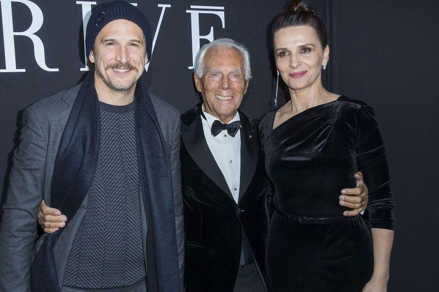 Guillaume Canet, Georgio Armani et Juliette Binoche