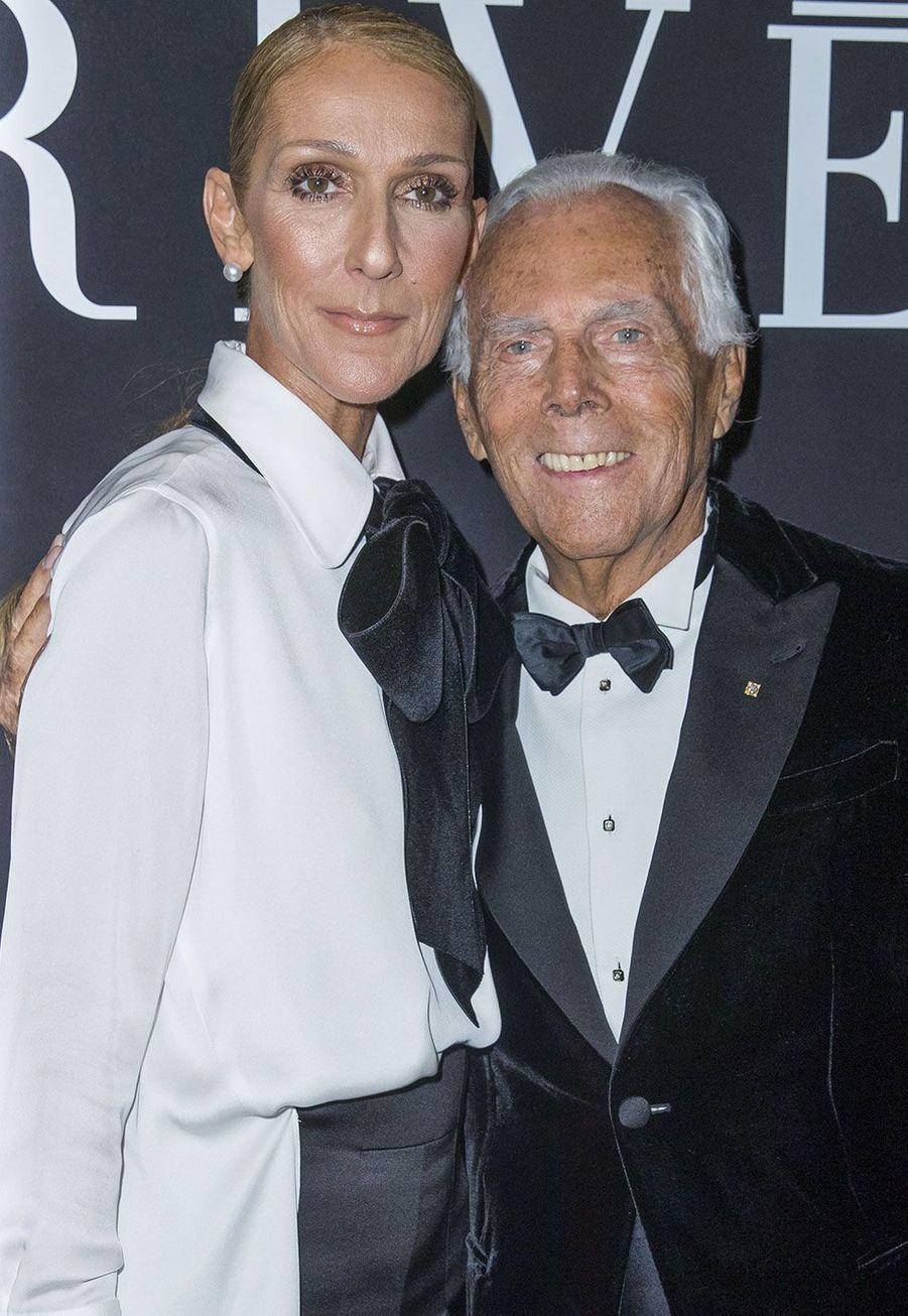 Céline Dion et Georgio Armani